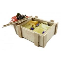 regalo caja madrea de jabones